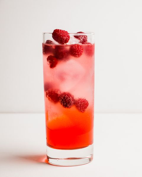 sweet raspberry tom collins cocktail