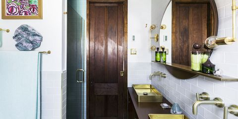 Room, Property, Green, Interior design, Building, Yellow, House, Bathroom, Real estate, Architecture,