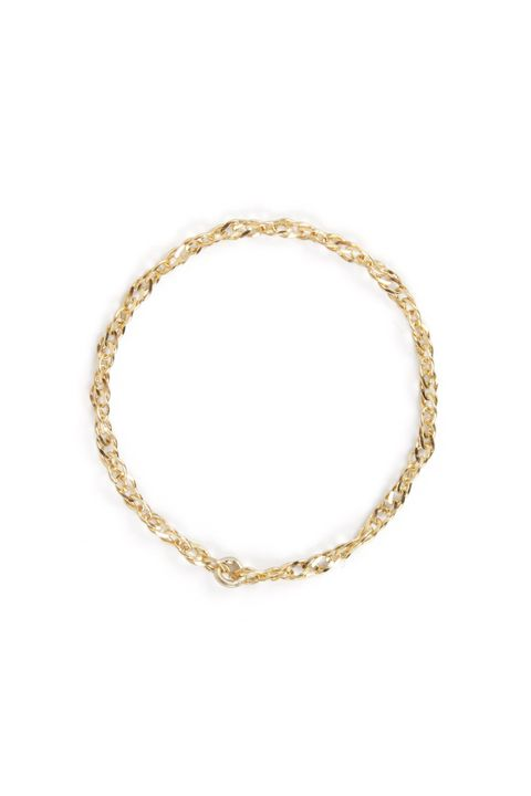 Jewellery, Fashion accessory, Body jewelry, Bracelet, Chain, Bangle, Necklace, Circle, Metal, Beige,