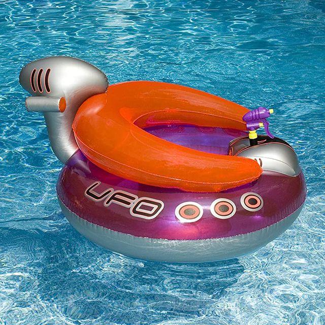swimline ufo spaceship squirter pool float with water gun