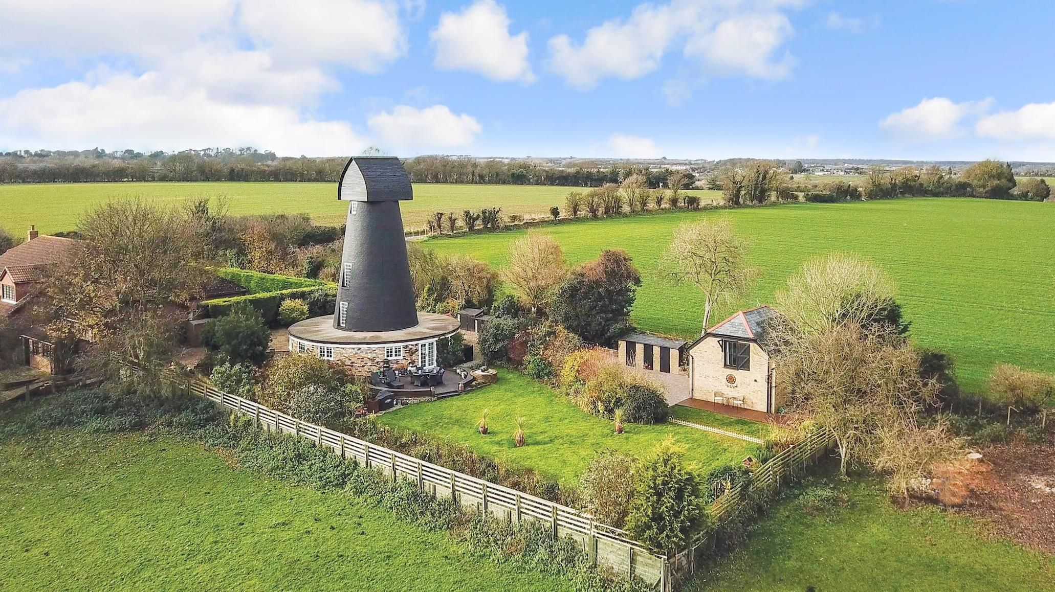 Converted windmill near Dover now circular family home for sale