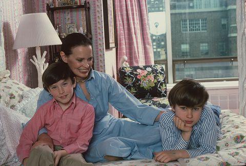 Gloria Vanderbilt And Her Sons