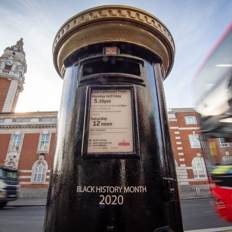 royal mail post box to mark black history month in brixton london post royal mail  mark black history month by unveiling four special edition postboxes in the uk the decorated postboxes will honour black britons both past and presentto mark this special month