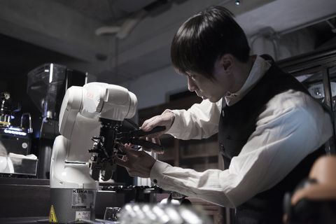 Microscope, Scientific instrument, Barista, Photography, Scientist, Optical instrument, Laboratory, Job, Science, Chemical engineer,
