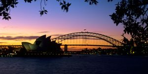 The Harbour Bridge in Sydney