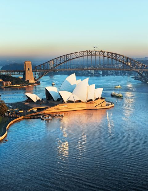 Bridge, Landmark, Opera house, Sky, Architecture, Fixed link, Water, Harbor, City, Opera,
