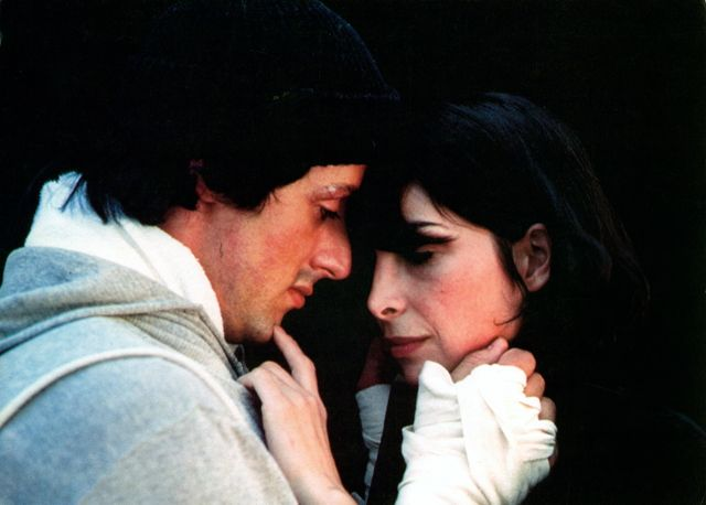 sylvester stallone and talia shire in 'rocky'