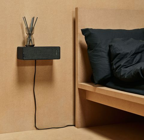 Wall, Furniture, Nightstand, Table, Room, Wood, Plywood, Interior design,