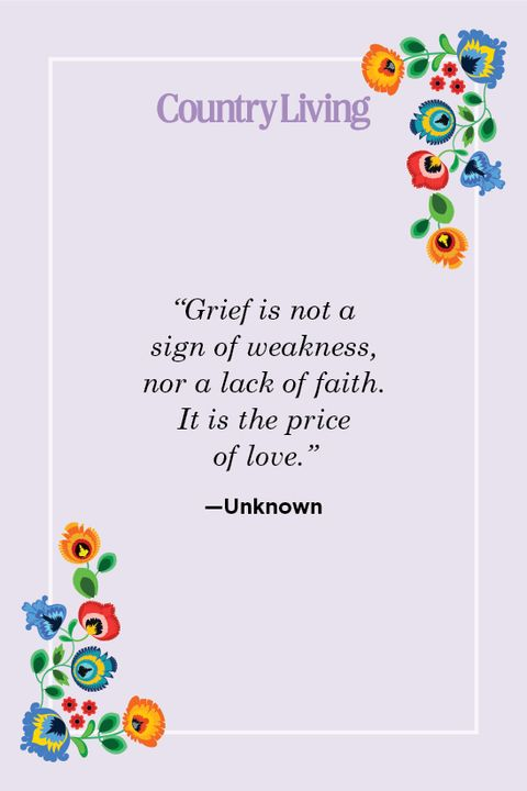 sympathy quote about grief by unknown author