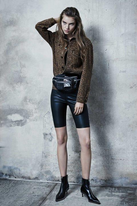 Clothing, Fashion model, Fashion, Beauty, Denim, Photo shoot, Waist, Leather, Model, Leg,