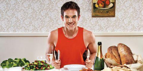 Runner at Thanksgiving Dinner