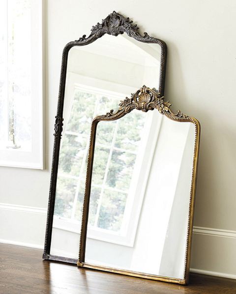White, Mirror, Product, Picture frame, Wood, Room, Furniture, Interior design, Rectangle, Metal,