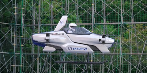 check out this cool flying car