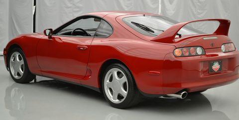 Land vehicle, Vehicle, Car, Sports car, Alloy wheel, Toyota supra, Wheel, Automotive design, Toyota, Rim,