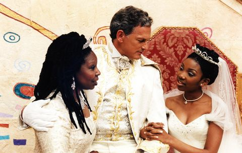 cinderella, from left whoopi goldberg, victor garber, brandy norwood 1997  © abc courtesy everett collection