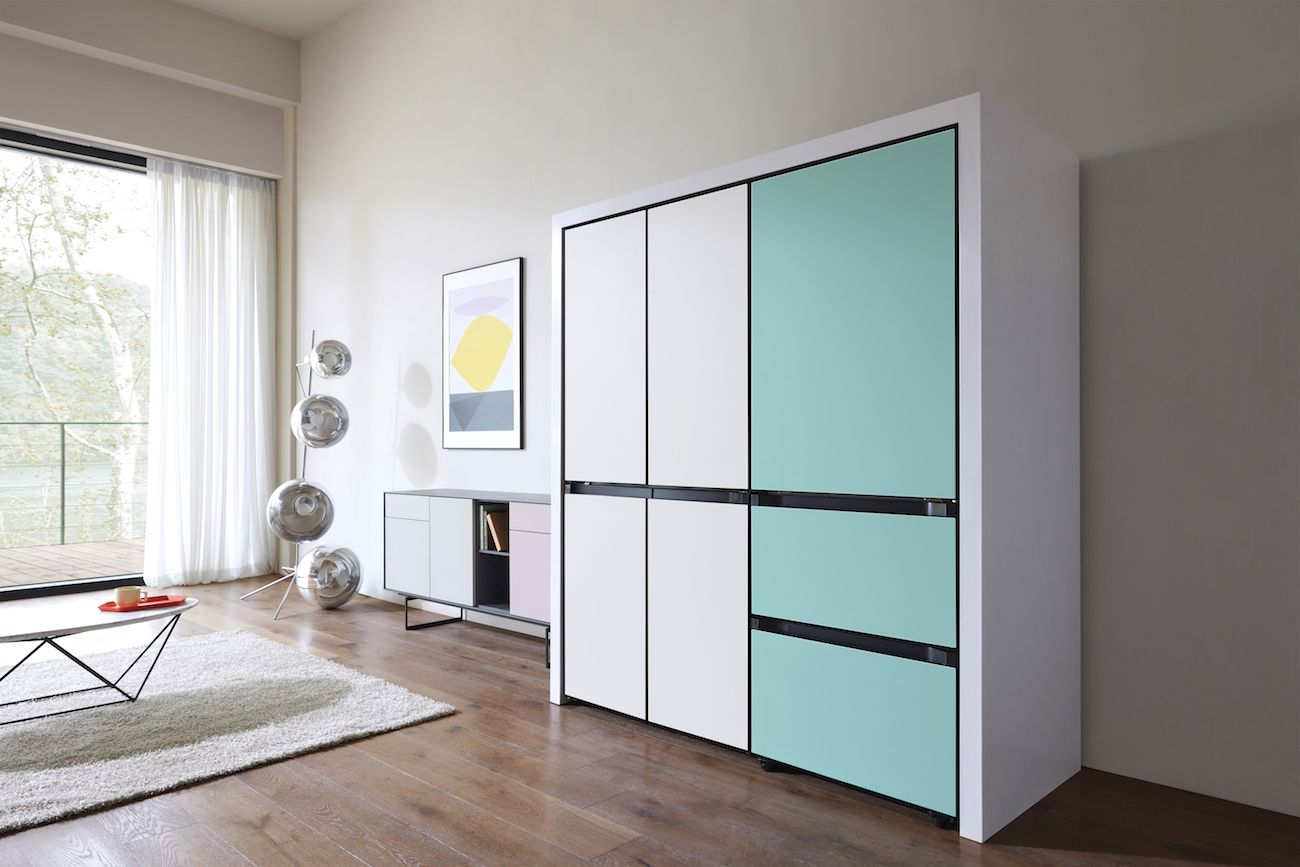 Samsung Releases Colorful Fridges That Blend into Your Cabinets