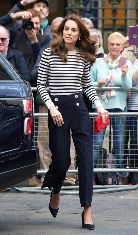 凱特王妃 條紋穿搭
