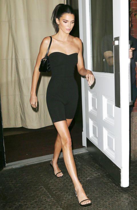 Kendall Jenner的黑色私服穿搭