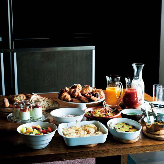 朝ごはん、レシピ、パン、野菜、卵