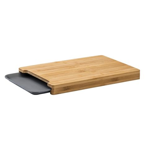 Tabla de cortar con bandeja, modelo Bamboo, en Casa