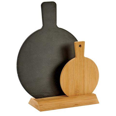 Tablas de cocina de pizarra y bambú