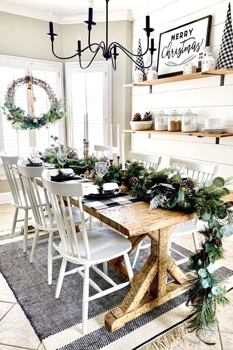 table garland diy christmas table decor