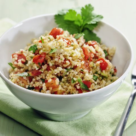 tablouleh bulgur salad with tomatoes, mint and parsley, lebanon