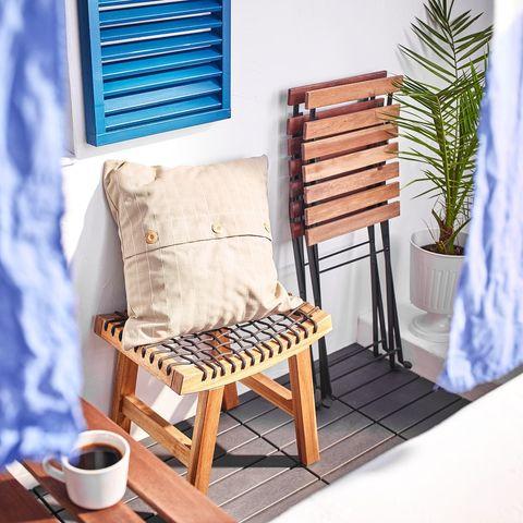 taburete de madera para exterior