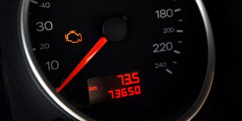 tachometer is showing an error of the engine electronics