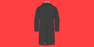 Men's Coat Tacking Stitch Vent