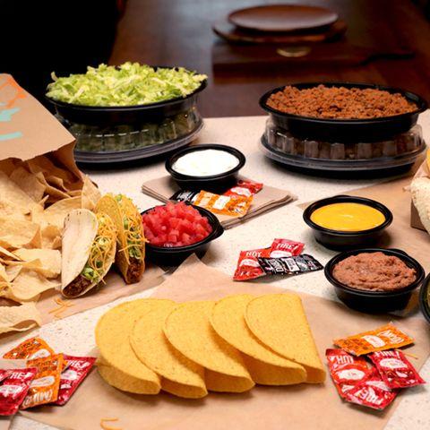 taco bell's home taco bar