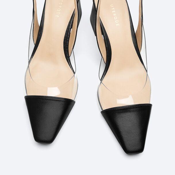 zapatos de tacón destalonados uterqüe