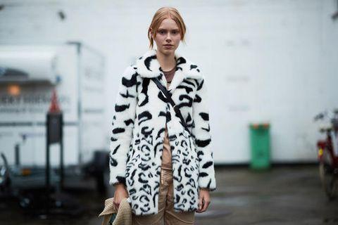 Clothing, Street fashion, Fur, Fashion, Outerwear, Coat, Textile, Dress, Fur clothing, Photography,