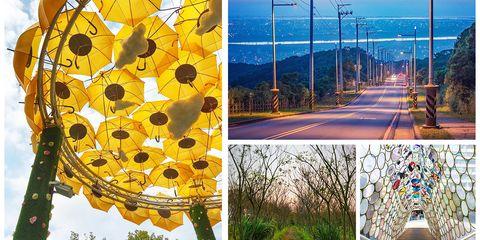 Nature, Yellow, Tree, Sky, Leaf, Architecture, Art, Plant, Road, Modern art,