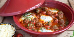 Tajine met gehaktballetjes in tomatensaus