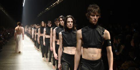 Runway, Fashion, Fashion model, Fashion show, Event, Fashion design, Public event, Haute couture, Performance, Night,