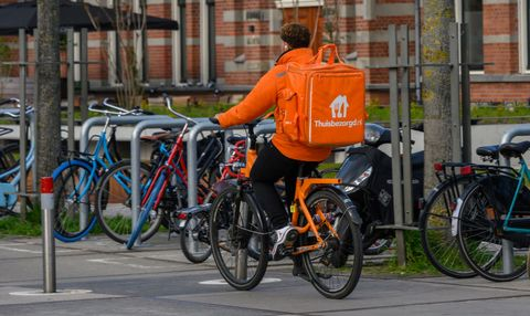 deliver with takeawaycom in amsterdam