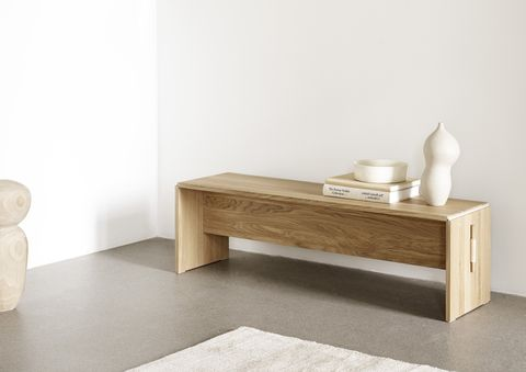 takt flat pack bench by cecilie manz