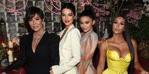Kris Jenner, Kendall Jenner, Kylie Jenner en Kim Kardashian