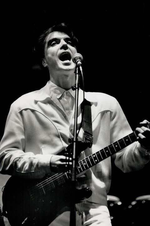 Unbridled enthusiasm:Talking Heads leader David Byrne last night introduced a capacity house of 2,70