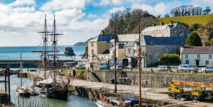 Tall Ships In The Historic Port Of Charlestown, Cornwall, England, Britain, UK