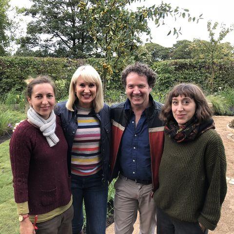 Kate Savill and Tamara Bridge, winners in Channel 5'sThe Great Gardening Challenge