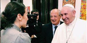 Tamara Falcó y el Papa