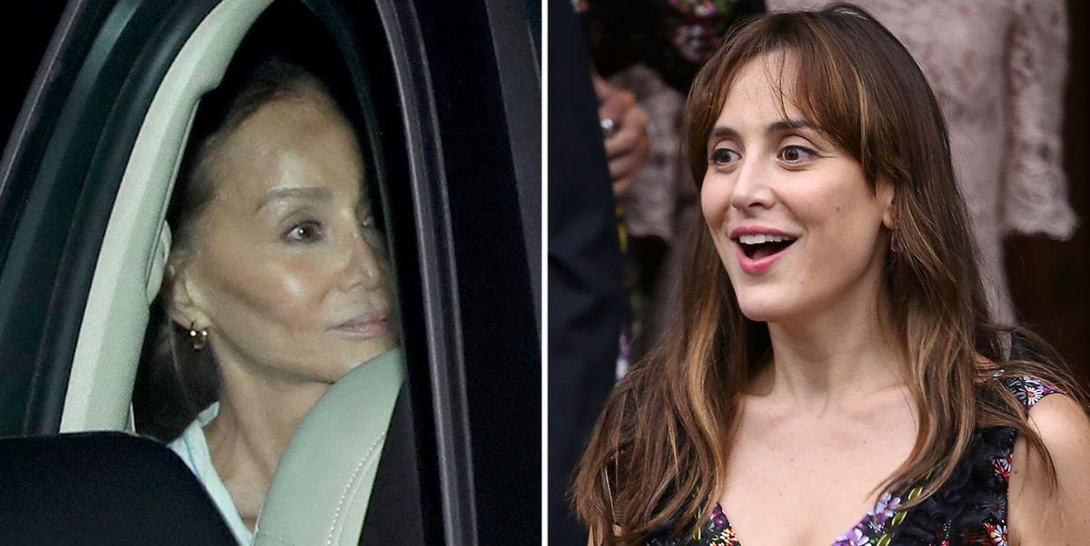 Isabel Preysler y Tamara Falcó, emocionadas con el nacimiento de Miguel.