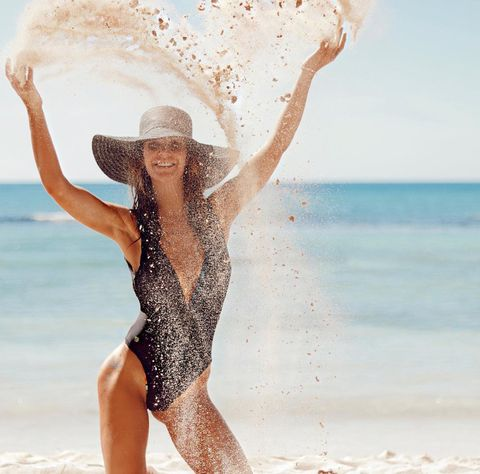 People on beach, Clothing, Swimwear, Fun, Beauty, Bikini, Summer, Photo shoot, Fashion model, Vacation,