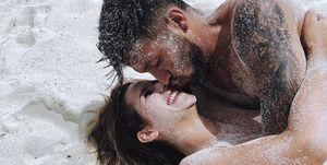 Tamara Gorro y Ezequiel Garay de vacaciones en la playa. Maldivas