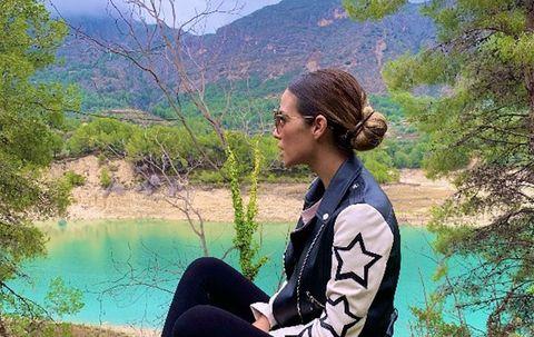 Tamara Gorro, de vacaciones de fin de semana con Ezequiel Garay en el Valle de Guadalest, Alicante