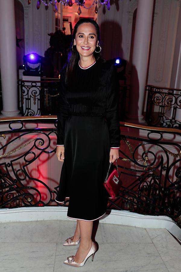 tamara falcó vestido negro satén
