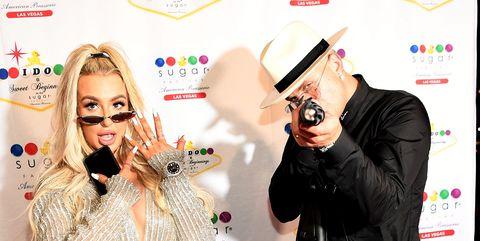 Jake Paul And Tana Mongeau Celebrate Wedding Reception At Sweet Beginnings At Sugar Factory In Las Vegas