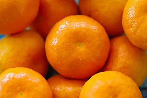 tangerines close up